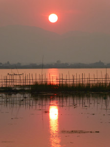 sunset at Inle